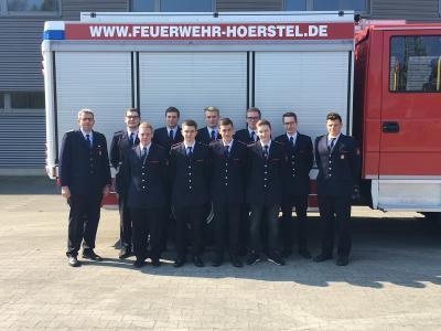 Vorschaubild zur Meldung: Module 3 und 4 des Grundausbildungslehrgang in der Feuerwehr Hörstel erfolgreich beendet!