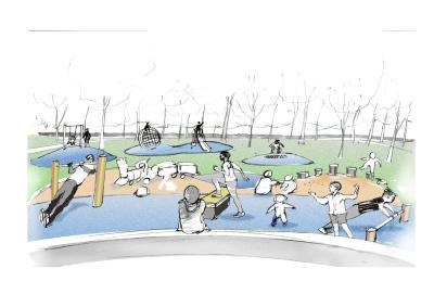 Konzeptzeichnung des Landschaftsarchitekturbüros Schrickel + Partner I Quelle: Schrickel + Partner