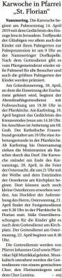 """Vorschaubild zur Meldung: Karwoche in Pfarrei """"St. Florian"""""""