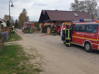 Vorschaubild zur Meldung: Gelungene Feuerwehreinsatzübung des Amtes Seelow- Land am 13.04.2019 in Lietzen Vorwerk