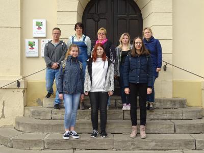 Foto zu Meldung: Zukunftstag im Rathaus und den Einrichtungen der Stadt Nienburg (Saale)