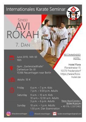 Foto zur Meldung: 2.Internationales Karate Seminar mit Sensei Avi Rokah