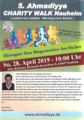 Foto zur Meldung: 5. Ahmadiyya Charity Walk in Nauheim am 28.04.2019