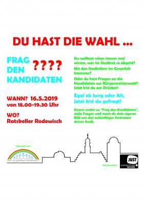 """Vorschaubild zur Meldung: """"Frag den Kandidaten"""" im Ratskeller"""