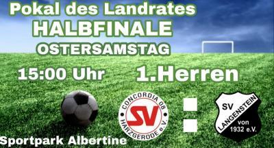 Foto zur Meldung: Halbfinale Pokal des Landrates SV Concordia 08 - SV Langenstein
