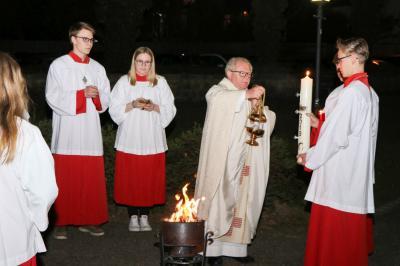 Foto zur Meldung: Die Karwoche und das Osterfest wurde sehr würdig gefeiert