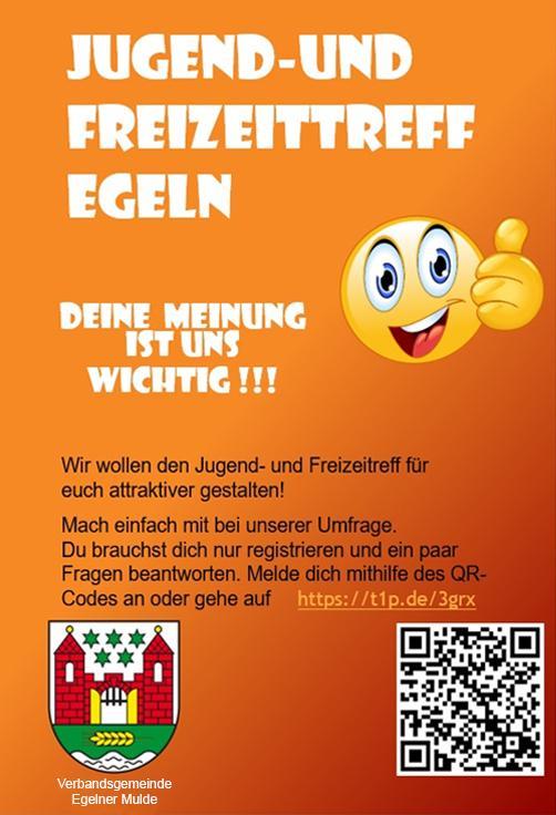 Flyer Umfrage Jugend- und Freizeittreff Egeln
