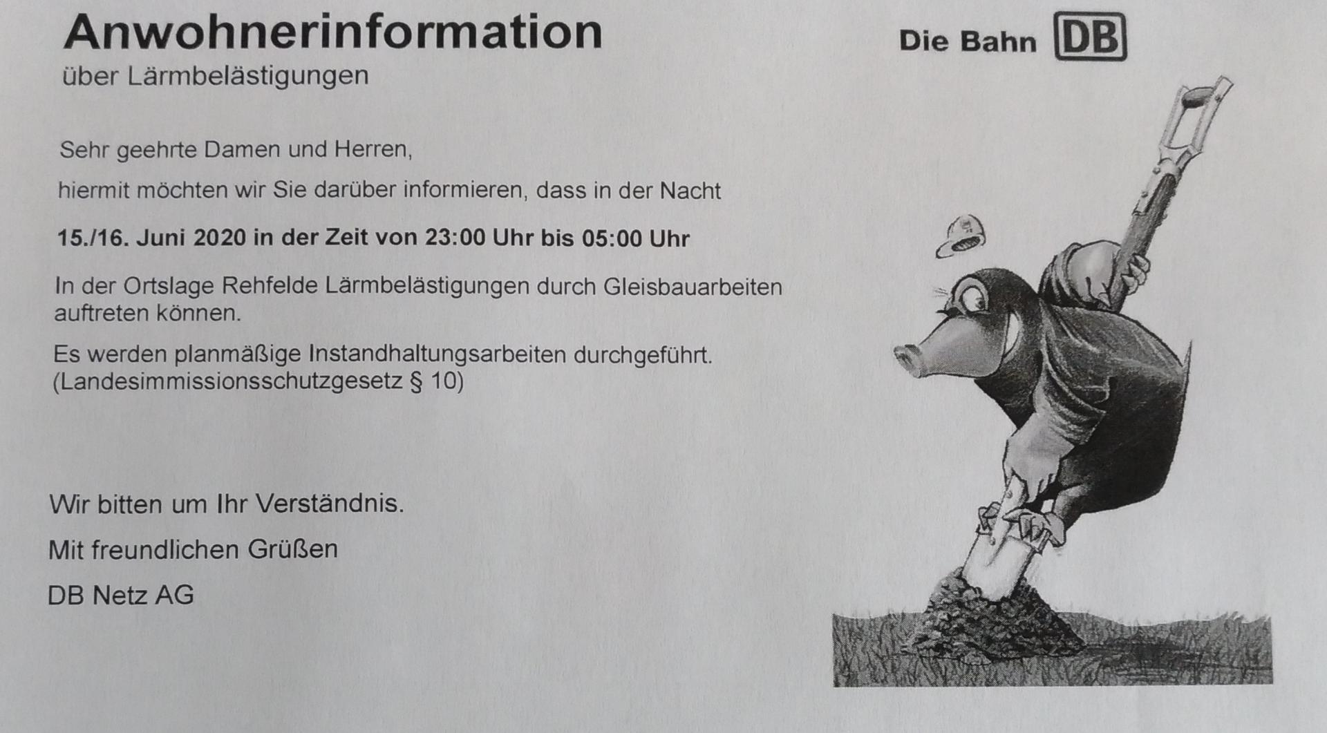Information Bauarbeiten