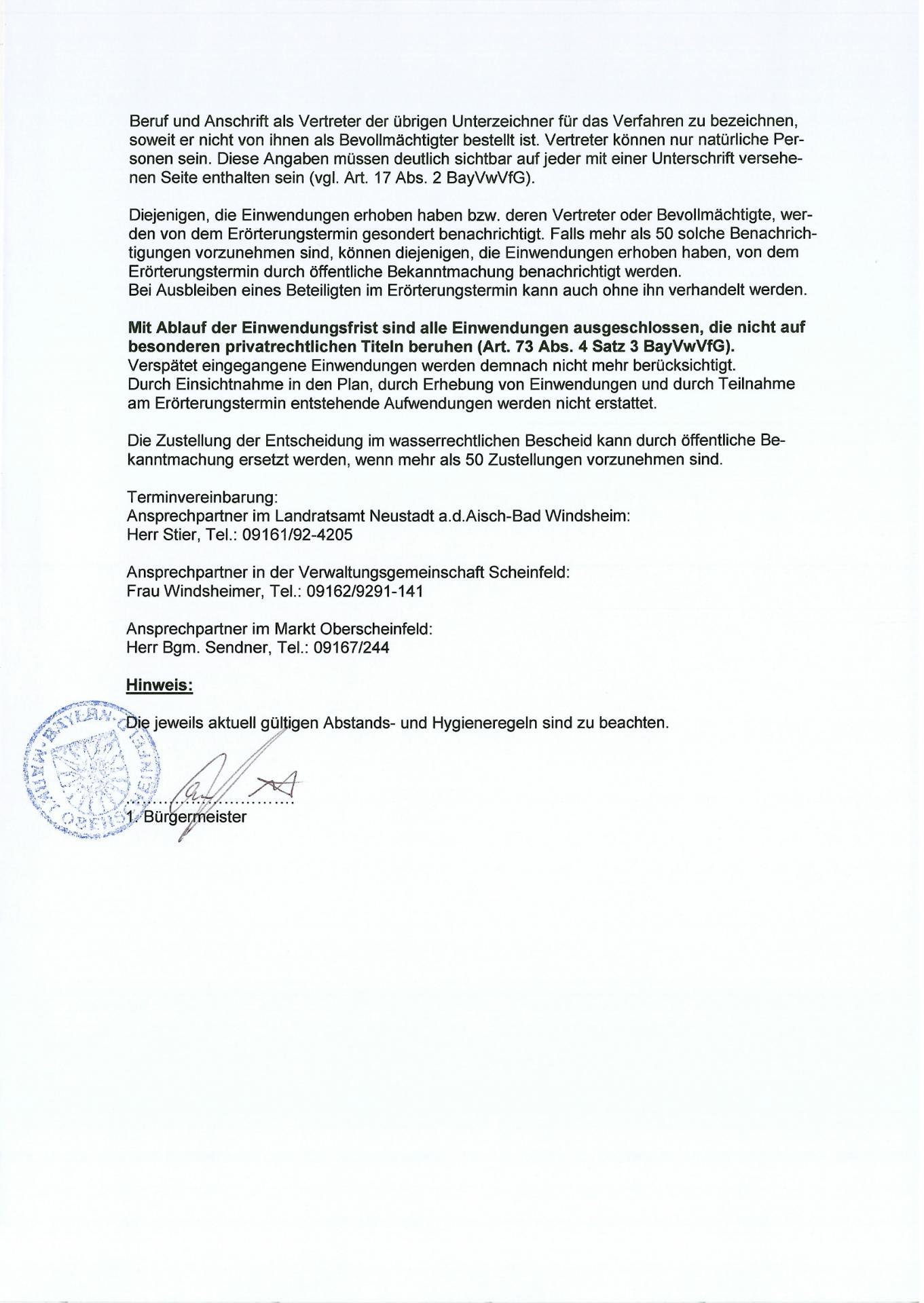 Bekanntmachung Wasserrecht B