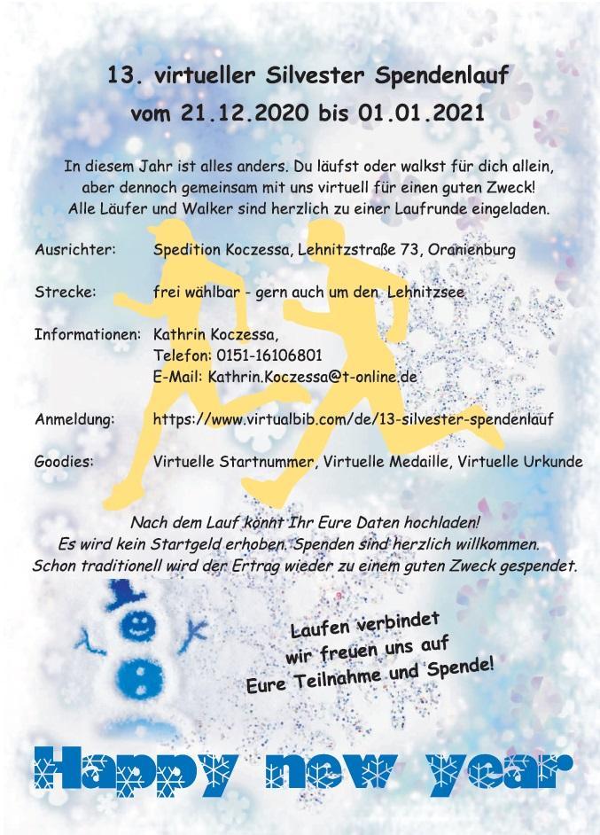 13. Silvester-Spendenlauf
