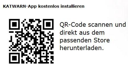 QR Code zur App Katwarn