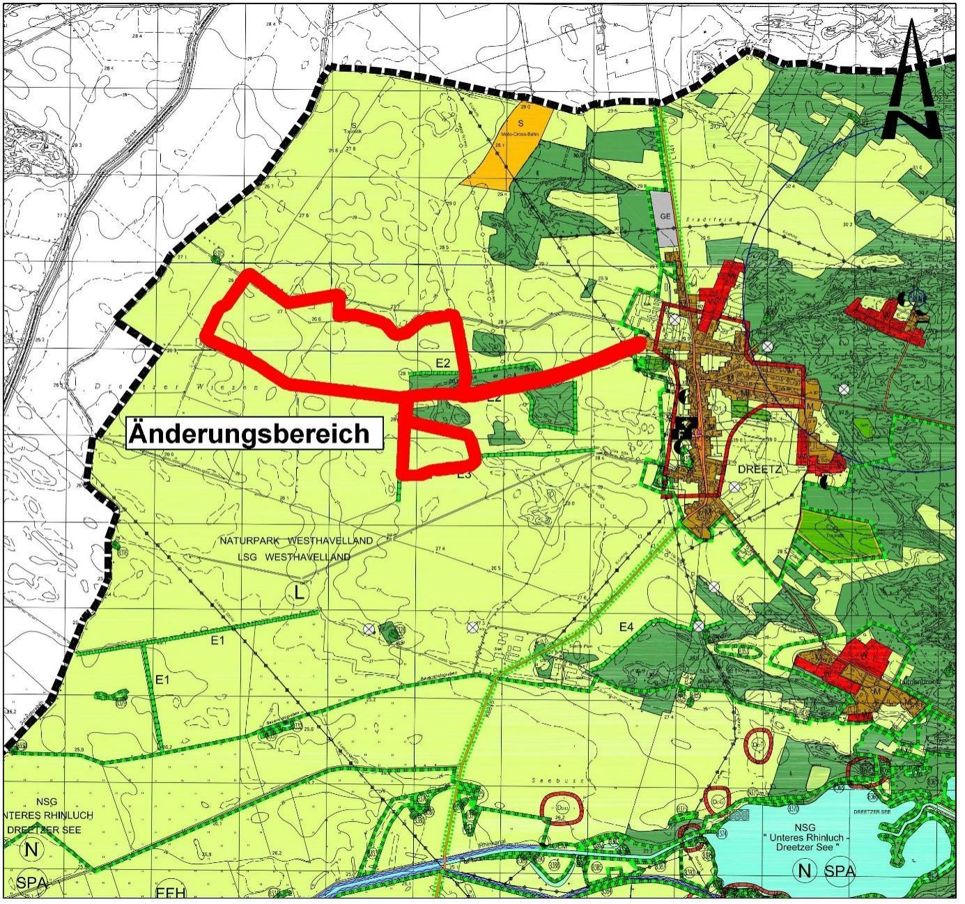 Planzeichnung 1. Änderung FNP Dreetz