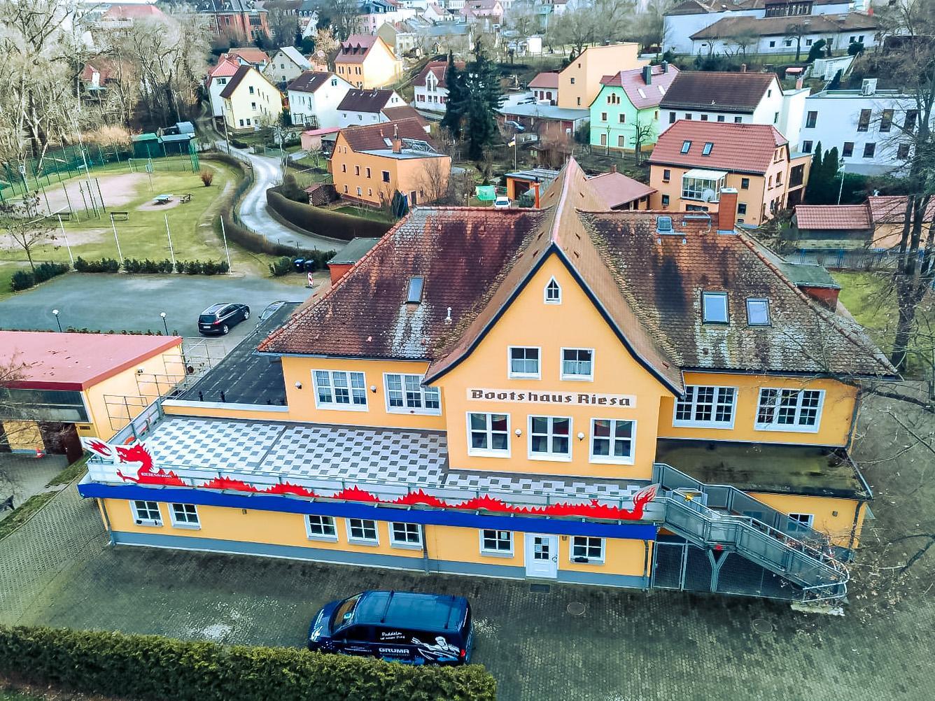 Bootshaus von oben