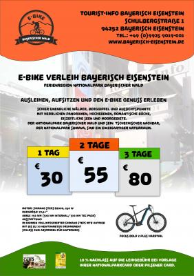 Plakat E-Bike-Verleih 2019