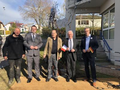 v.l.n.r.: Joachim Harbut, Christian Wertke, Dr. Hans-Christian Gaebell, Alain Boulanger, Axel Spieckermann