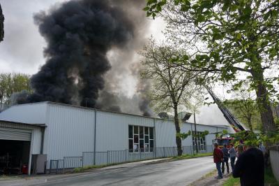 Vorschaubild zur Meldung: Brand in der Fa. Ertex (Jaquardweberei)