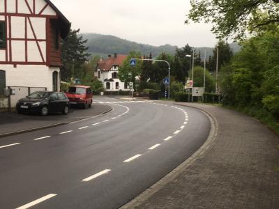 Vorschaubild zur Meldung: Juju! die erste Straßen in Witzenhausen mit Fahrradmarkierung