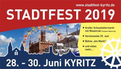 Vorschaubild zur Meldung: Auf geht's zum Kyritzer Stadtfest vom 28. bis 30. Juni 2019