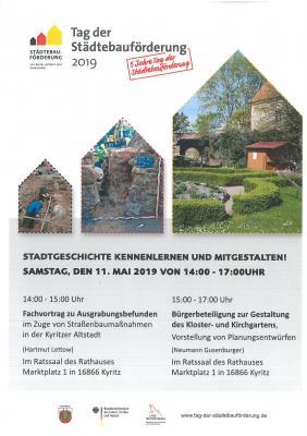Vorschaubild zur Meldung: Tag der Städtebauförderung am 11. Mai – Stadtgeschichte kennenlernen und mitgestalten