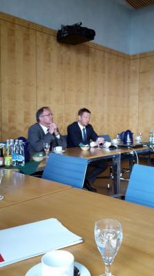 Vorschaubild zur Meldung: Kreishandwerkerschaft Zwickau zu Besuch in der Sächsischen Staatskanzlei