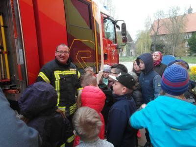 Foto zur Meldung: Brandschutzerziehungstag in der Grundschule