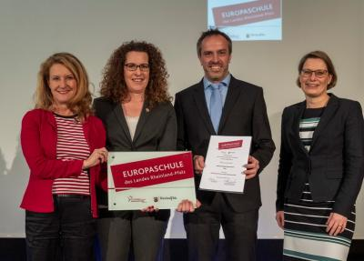 Vorschaubild zur Meldung: Zertifizierung zur Europa-Schule