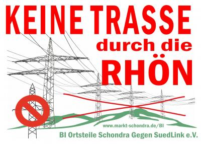 Foto zur Meldung: Jahreshauptversammlung der BI Ortsteile Schondra Gegen SuedLink e.V. am 15.05.2019