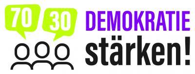 "Logo des Projektes ""Demokratie stärken"""
