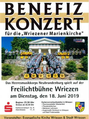 """Vorschaubild zur Meldung: Benefiz Konzert für die """"Wriezener Marienkirche"""""""