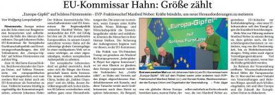 Vorschaubild zur Meldung: EU-Kommissar Hahn: Größe zählt