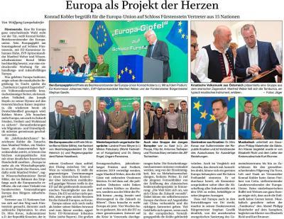Vorschaubild zur Meldung: Europa als Projekt des Herzens
