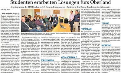 Vorschaubild zur Meldung: Studenten erarbeiten Lösungen fürs Oberland