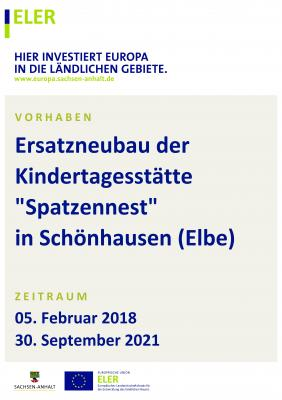 """Vorschaubild zur Meldung: Ersatzneubau Kindertagesstätte """"Spatzennest"""" in Schönhausen (Elbe)"""
