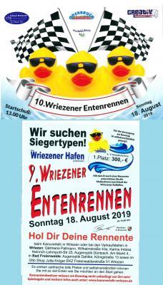 Vorschaubild zur Meldung: 10. Wriezener Entenrennen am 18.08.2019