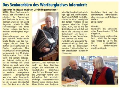 "Foto zur Meldung: ""Frühlingserwachen"" bei den Nazzaer Senioren"