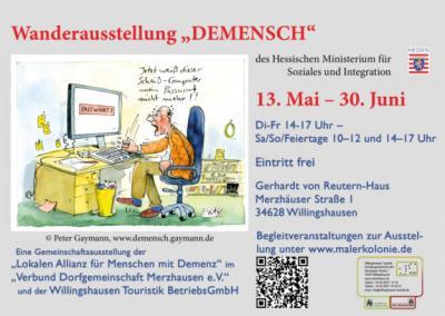 Vorschaubild zur Meldung: Wanderausstellung DEMENSCH / Gerhardt von Reutern-Haus