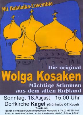 Vorschaubild zur Meldung: Kartenvorverkauf: Wolga Kosaken in Kagel