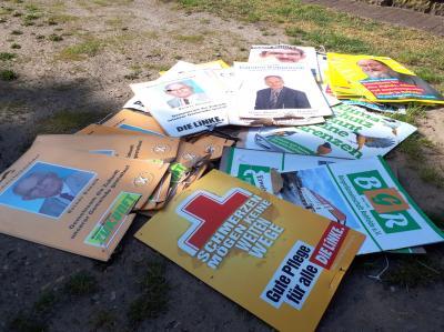 Vorschaubild zur Meldung: Strafbare Handlungen - Wahlplakate zerstört