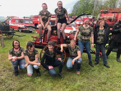 Vorschaubild zur Meldung: Gute Platzierung der Frauenmannschaft der Feuerwehr Rodewisch zum 27. Handdruckspritzenwettbewerb