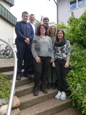 von links: Sascha Thömmes, Bürgermeister Adrian Schmidle, Carmen Teckenburg, Timo Metzger, Annette Müller, Julia Zimmermann