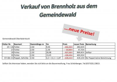 Brennholz-Verkauf