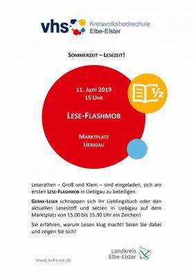 Plakat Lese Flashmob