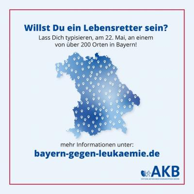 Vorschaubild zur Meldung: Aktionstag Bayern gegen Leukämie - Görisried ist dabei!