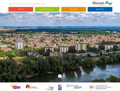"""Der städtische Internetauftritt """"Maintal.de"""" wurde überarbeitet und präsentiert sich seit kurzem im neuen Design. Foto: Screenshot von www.maintal.de, Stadt Maintal"""