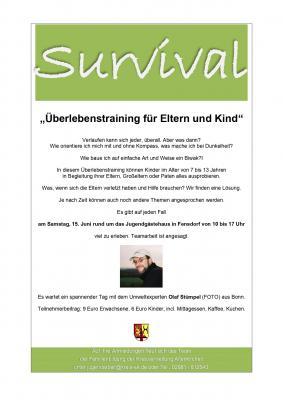 """Vorschaubild zur Meldung: """"Survival"""" -Überlebenstraining für Eltern und Kind"""