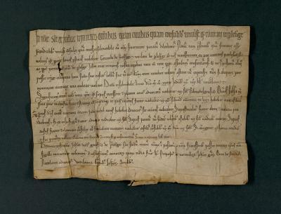 Stadt- und Regionalmuseum | Urkunde der Ersterwähnung der Stadt Perleberg vom 29. Oktober 1239.