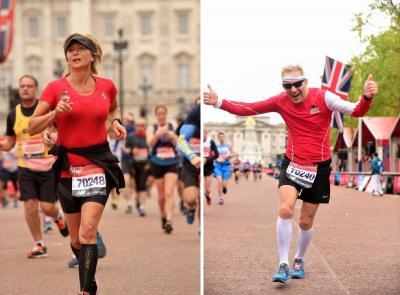 Foto zur Meldung: Der London Marathon - Ehepaar aus Teschow mittendrin