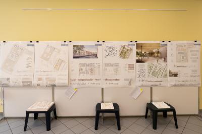 Vorschaubild zur Meldung: Ausstellung zum geplanten Nachbarschaftshaus und zum Umbau der Kita Kunterbunt noch bis zum 31.05.2019