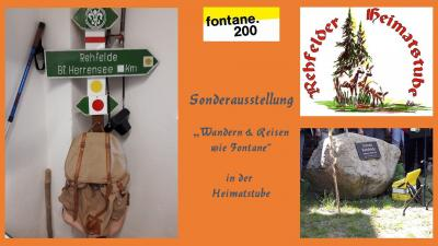 Vorschaubild zur Meldung: Fontaneausstellung in der Rehfelder Heimatstube eröffnet