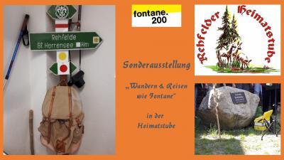 Foto zur Meldung: Fontaneausstellung in der Rehfelder Heimatstube eröffnet